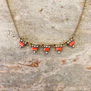 ♥️ Loft ♥️ Orange Bar Statement Necklace